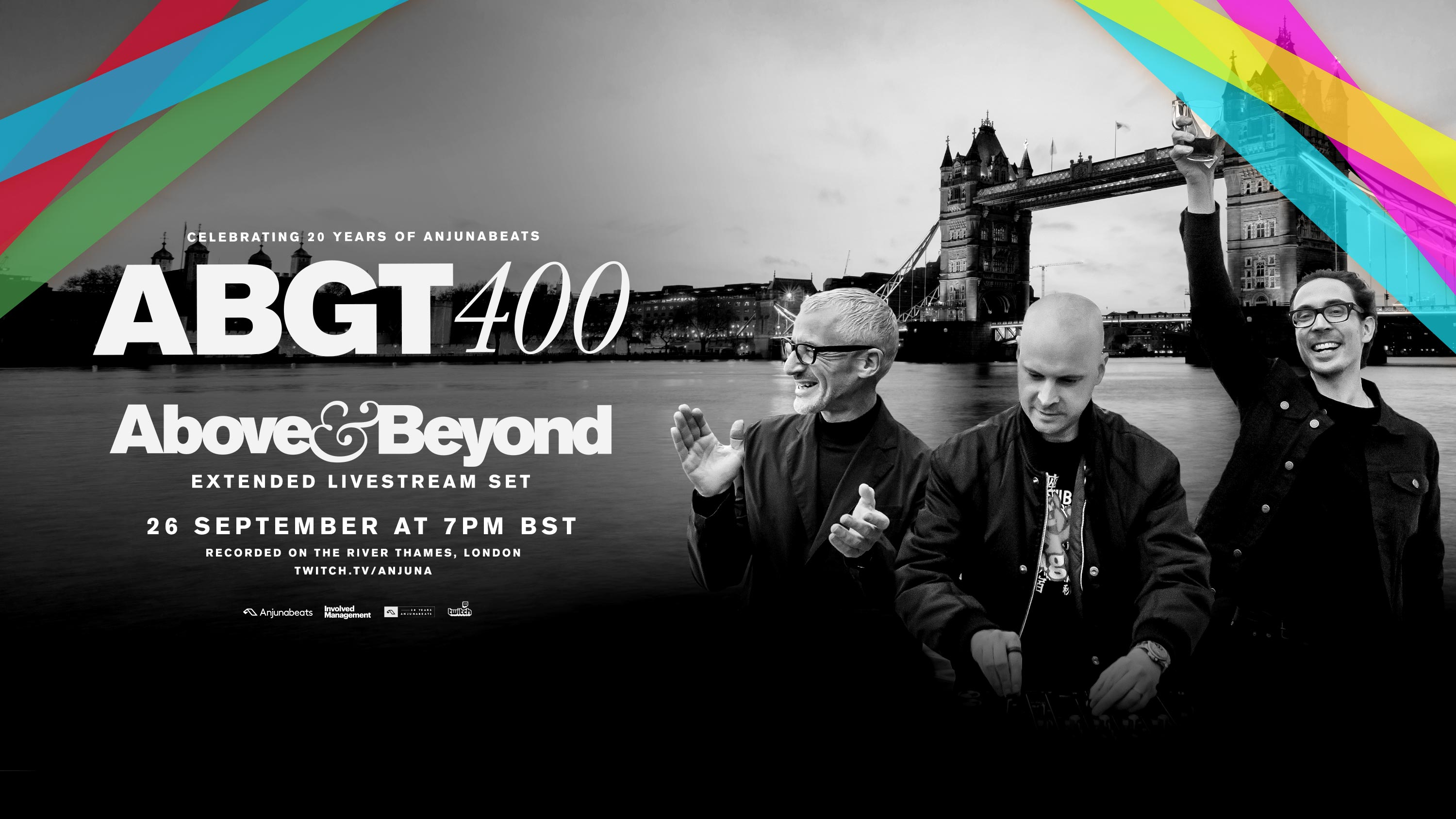 Above and Beyond - ABGT 400 (20 Years Of Anjunabeats), Live at River Thames London - 26 September 2020