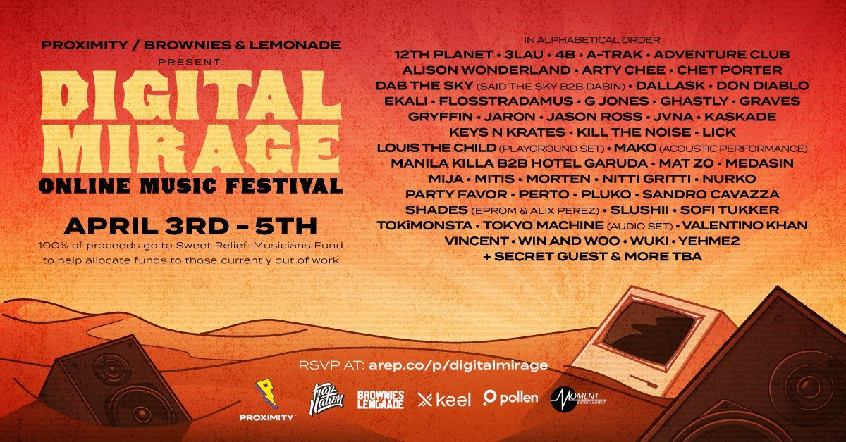 Live at Digital Mirage Online Music Festival, United States